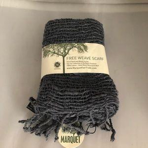 Marquet Hand-woven Cotton Scarf Gray